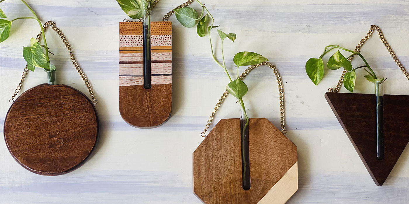 Handmade Wooden Planters, to help you go Green